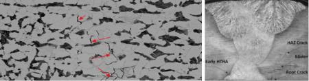 Выявление водородного растрескивания с помощью фазированных решеток